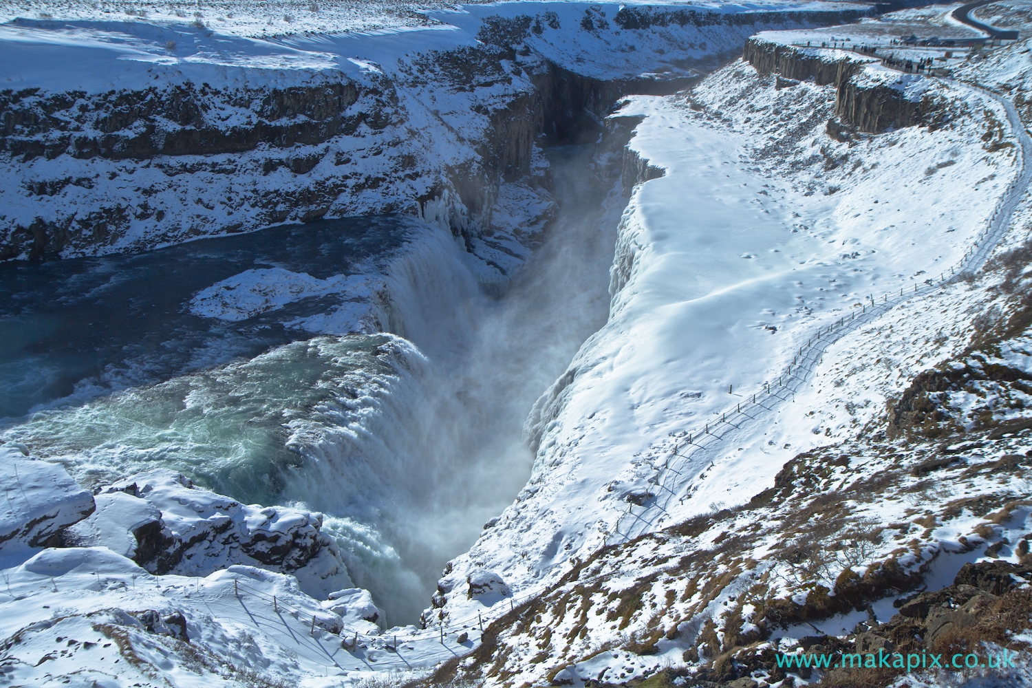 Gullfoss in winter, Iceland
