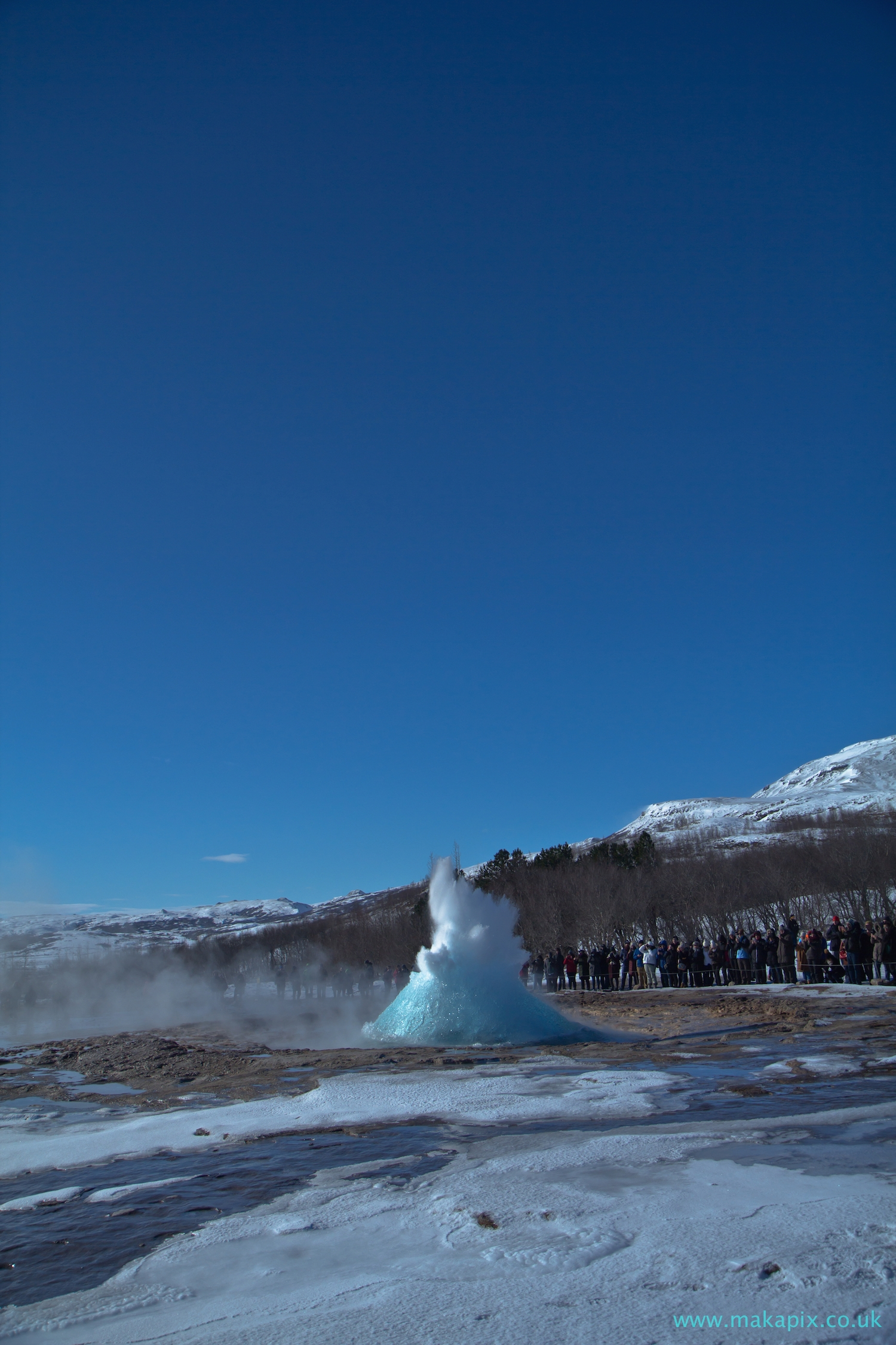 Strokkur Geysir in winter, Iceland