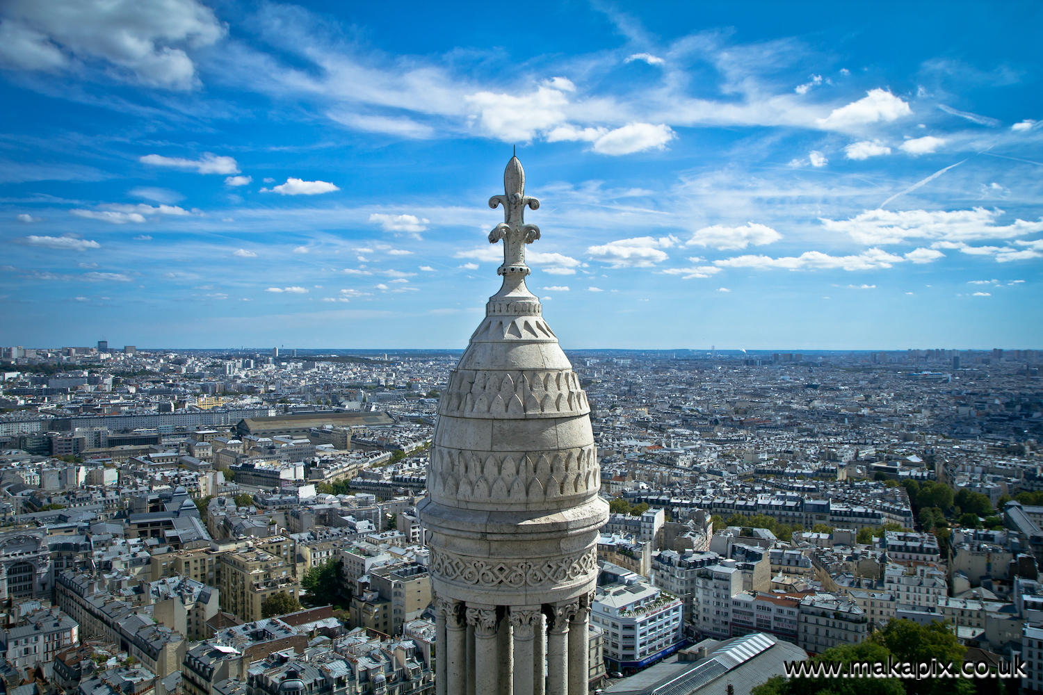 Paris view from Sacre Coeur