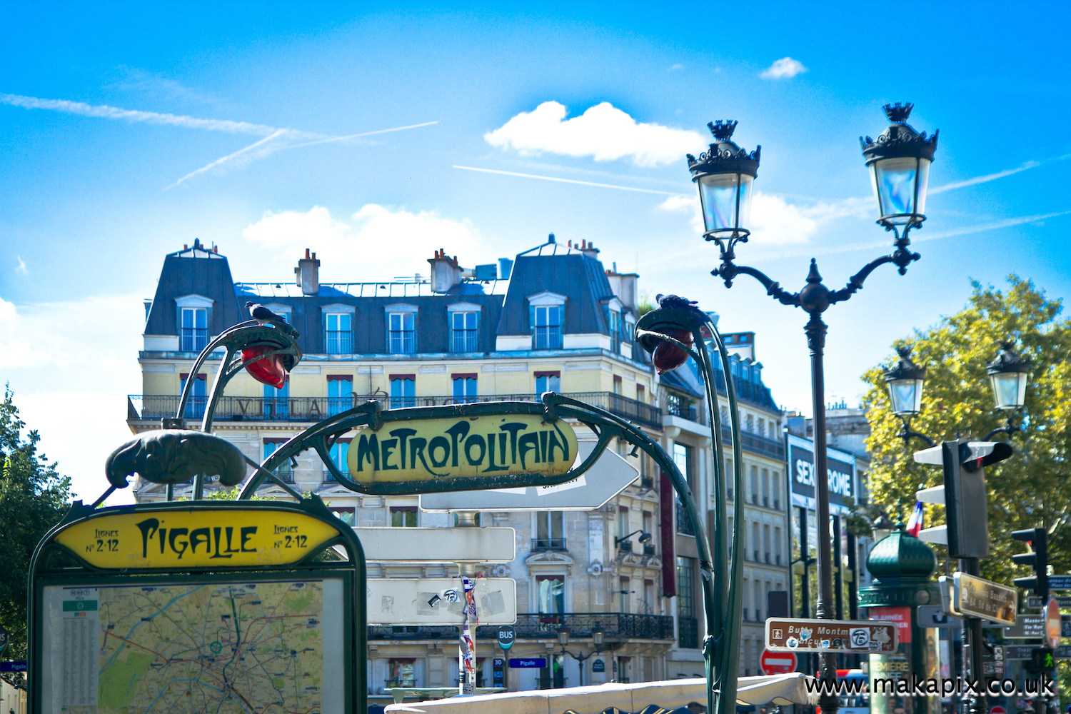 Street life in Paris, France