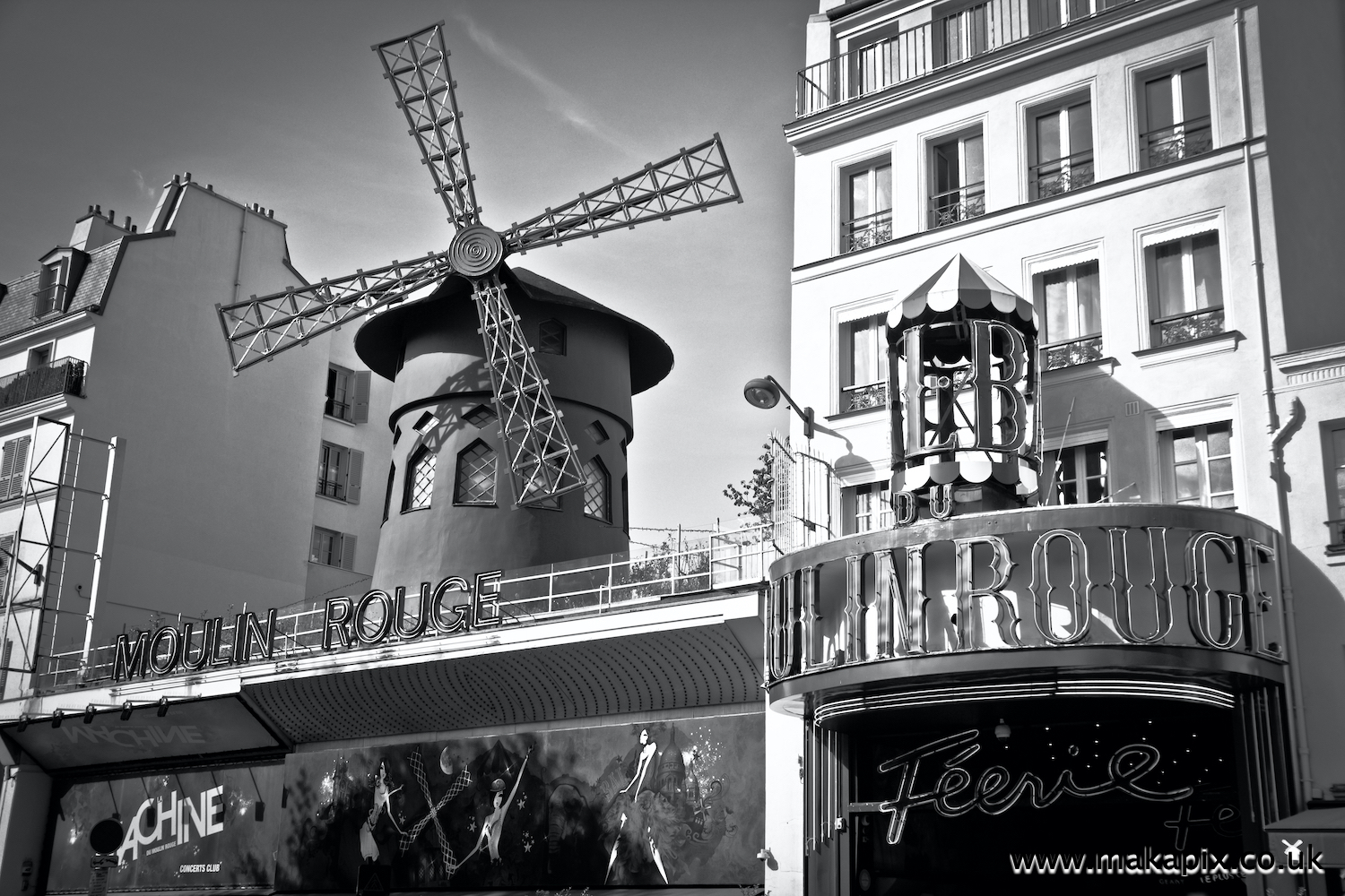 Moulin Rouge cabaret in Paris, France