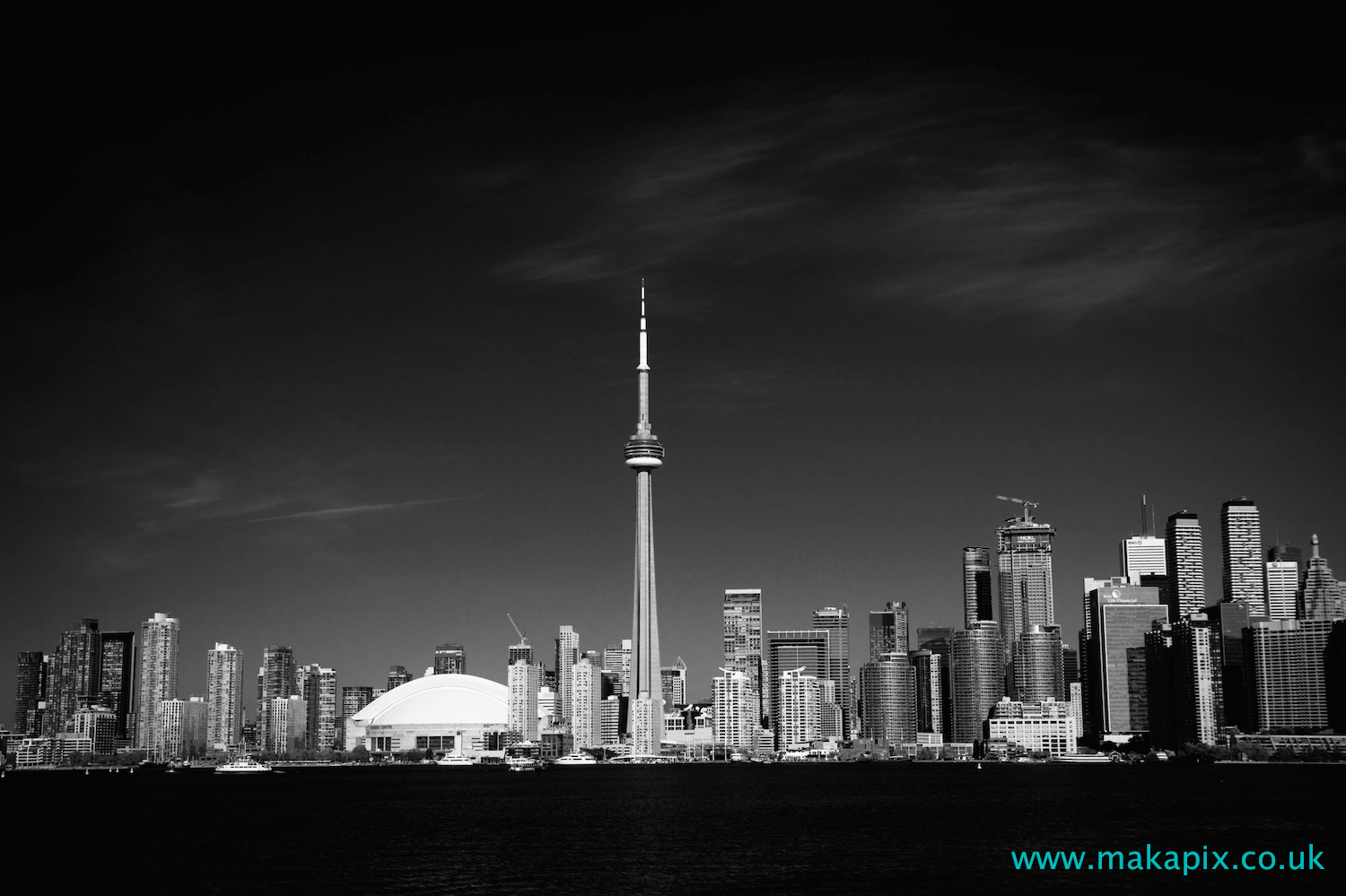 Toronto downtown in black and white, Canada