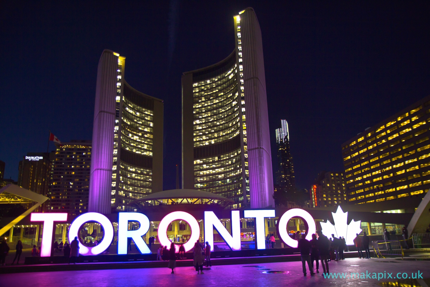 Toronto City Hall at night, Canada