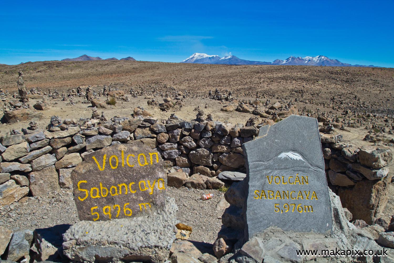 Sabancaya volcano, Arequipa region, Peru