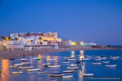 Blue hour in Cádiz, Andalucia, Spain