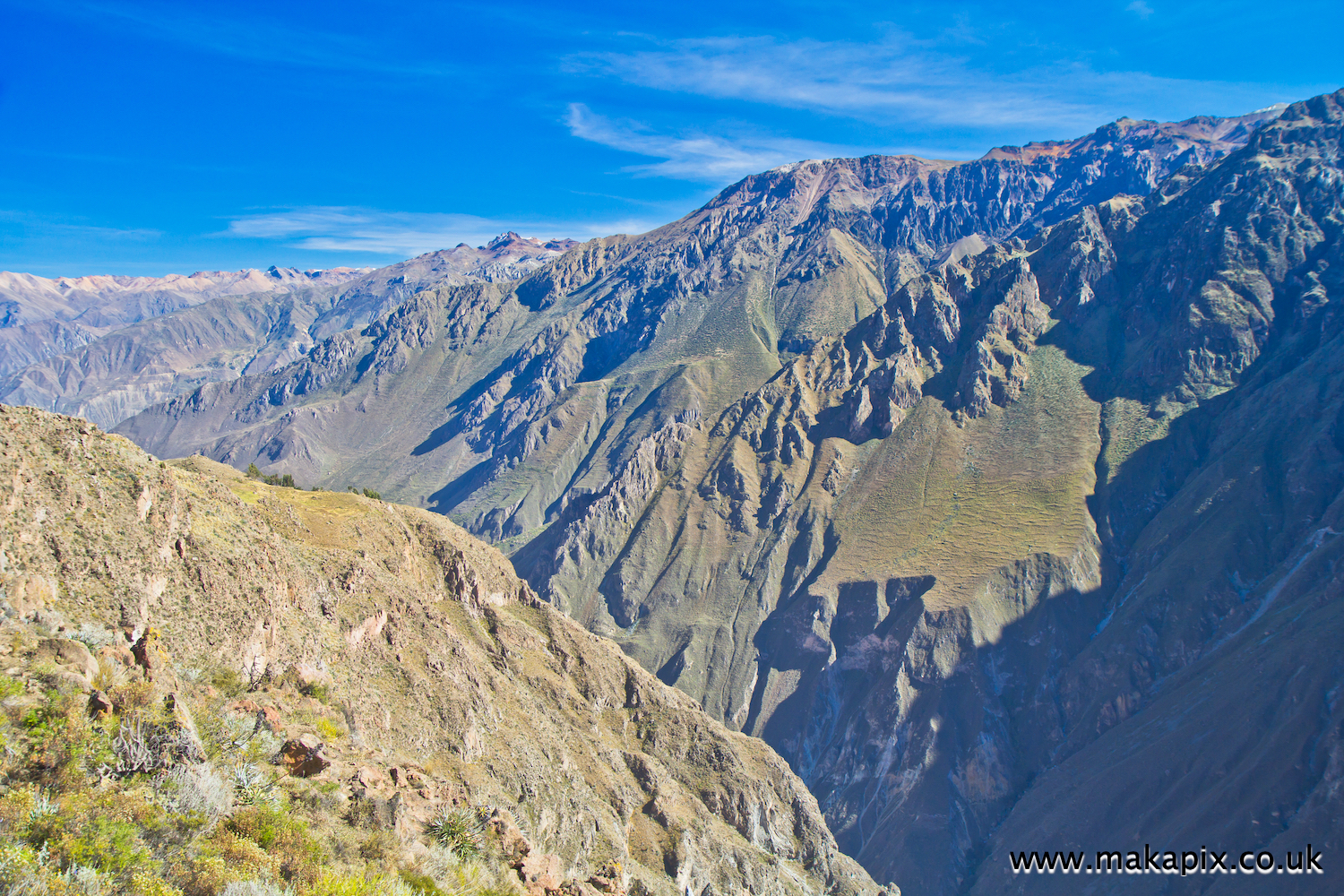 Colca Canyon, Peru, famed as one of the world's deepest