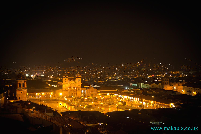Cusco at night, Peru