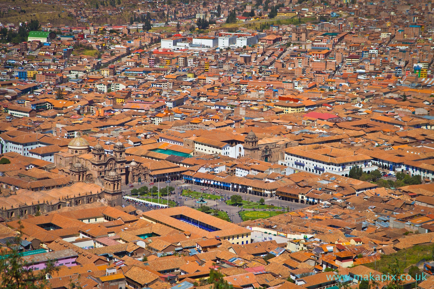 Cusco from above, Peru