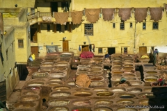 Chouara Tannery is one of the three tanneries in the city of Fes, Morocco