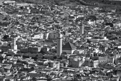 Landscape view of the medina from the Marinid Tombs, Fes, Morocco