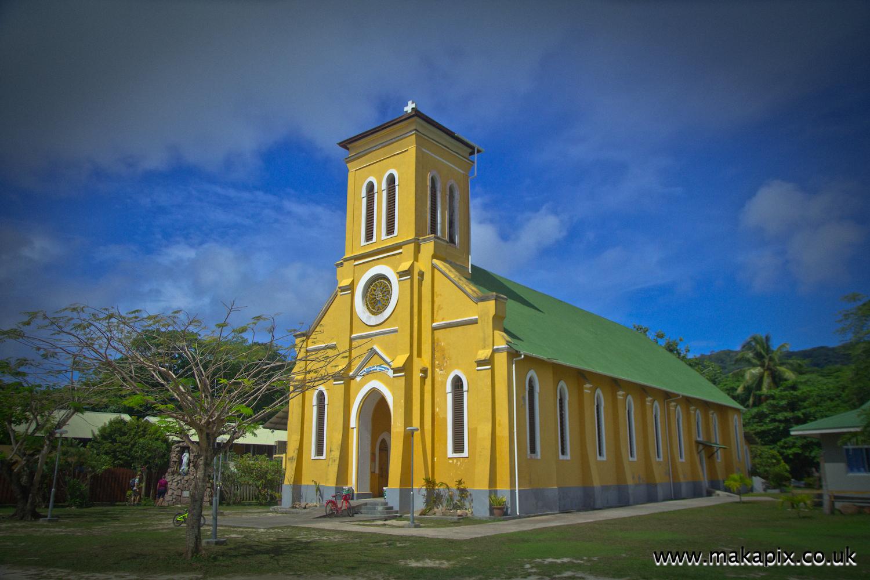 Notre Dame de L'Assomption Church, La Digue island, Seychelles