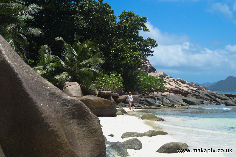 Anse Severe beach, La Digue island, Seychelles