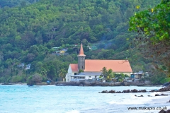 Catholic church in Anse Royale,  Mahe Island, Seychelles