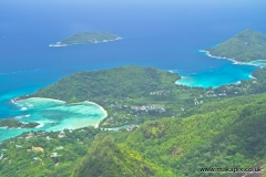 View from Morne Blanc 667m, Mahe Island, Seychelles