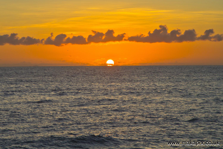 Sunset at Praslin island, Seychelles