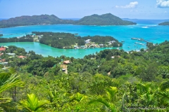 Landscape view, Praslin island, Seychelles