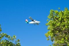 Air Seychelles flight, Praslin island, Seychelles