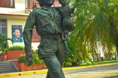 Statue of Che Guevara Holding a Child, Santa Clara, Cuba