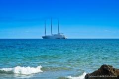Sailing Yacht A at Lido Di Noto, Sicily, Italy