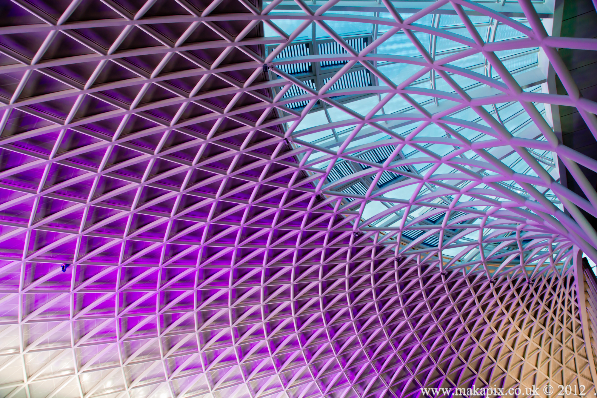 King's Cross station diagrid roof, London, England